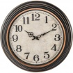 Accent 20 Antique Black Round Wall Clock