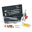19pc All Stainless Steel Barbeque Tool Set