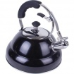 2.6 liter Gloss Black Stainless Steel Tea Kettle with Copper Bottom