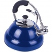 2.6 liter Gloss Blue Stainless Steel Tea Kettle with Copper Bottom