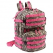 Digital Camo w/Pink Trim Water-Resistant HvyDty Backpack