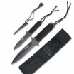3Pc Survivor Fixed Blade Knife Set w/Fire Starter