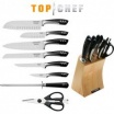 9 piece TOP CHEF Full Knife Set w/Wood Block