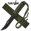 Black Fixed Blade Survior Knife