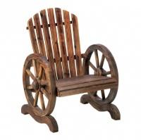 Wagon Wheel Adrondack Chair