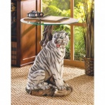 Gentle White Tiger Accent Table