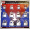 12 Pcs Laminated 30mm 40mm 50mm Padlocks