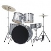 5 pc Silver Drum Set