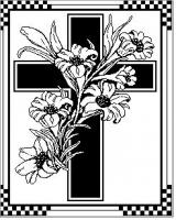 Flower Lilly Cross Pattern