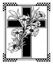 Flower Lilly Cross (40 x 60) Throw