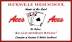Hicksville HHS (40 x 60) White Logo Throw