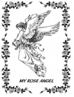 Rose Angel (40 x 60) Throw
