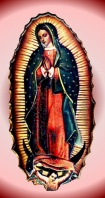Guadalupe Red Moon Metallic Color Throw