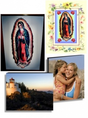 Guadalupe Inspirational Floral 11 x 14 Aluminum Glossy Photo Panel