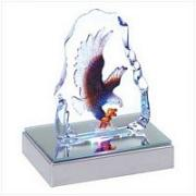 Lighted Crystal Eagle Sculpture
