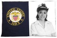 Navy Military Throw (40x60)